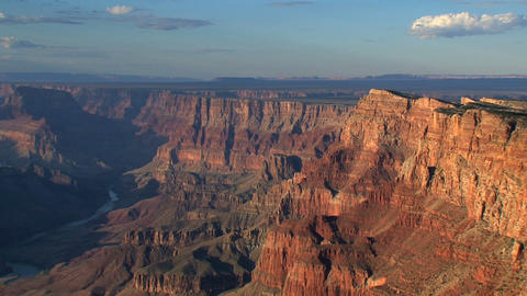 Clouds shadows moving above the grand canyon Footage