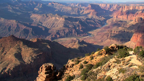 Grand canyon clouds shadow timelapse wide view Stock Video Footage