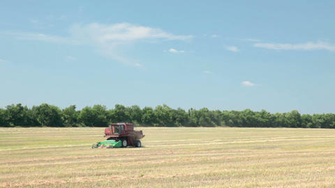 Combine-harvester Stock Video Footage