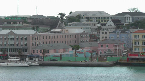 NASSAU - FEB 4: Aerial view of the city town in Bahamas.... Stock Video Footage