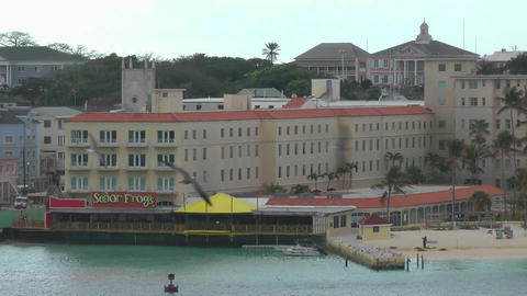 NASSAU - FEB 4: Aerial view of the city town in Bahamas. This particular terminal is one of main tou Footage