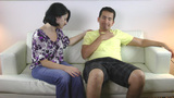 woman comforting his sad husband Stock Video Footage