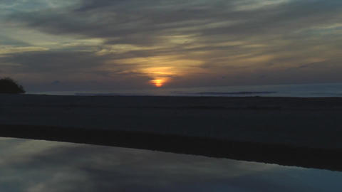 Stunning view of the sun rising in the beach and... Stock Video Footage