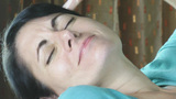 Close up of sleepy eye of a woman yawns Footage
