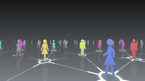 Social Network Connection A 2b 3 HD Animation