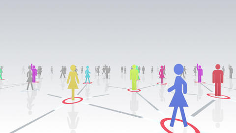 Social Network Connection A 2w 3 HD Animation