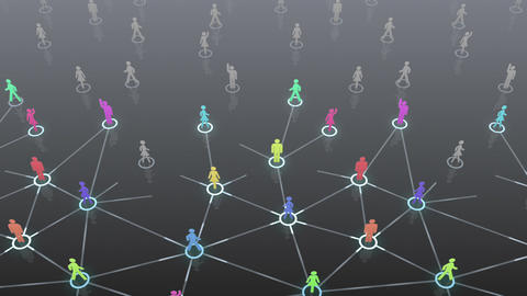 Social Network Connection A 3b 3 HD Animation