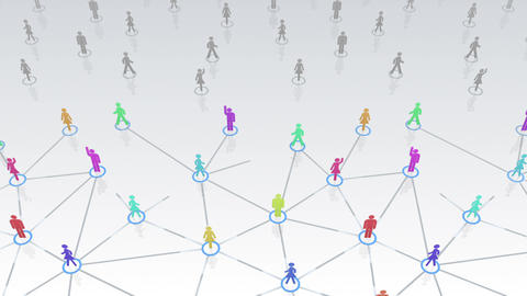 Social Network Connection A 3w 3 HD Stock Video Footage