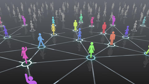 Social Network Connection A 4b 3 HD Stock Video Footage