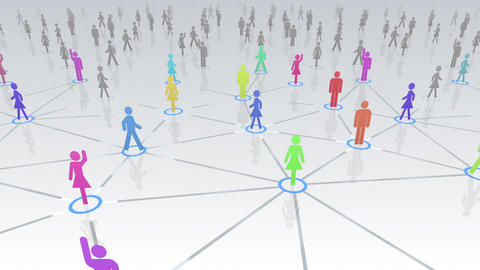Social Network Connection A 4w 3 HD Stock Video Footage