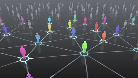 Social Network Connection B 4b 3 HD Stock Video Footage