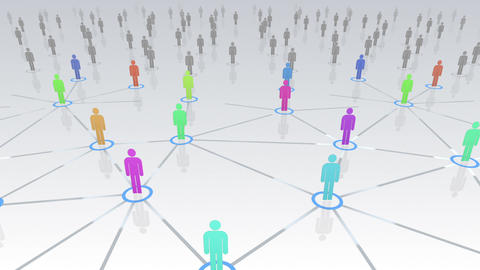 Social Network Connection B 4w 3 HD Stock Video Footage