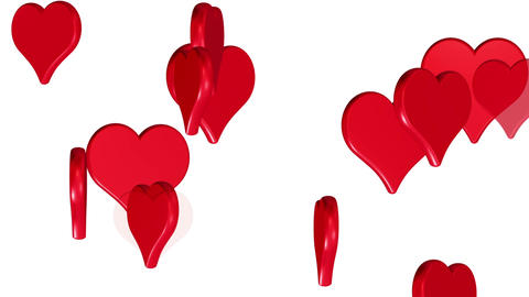 Flying hearts, wedding background, valentines day, red... Stock Video Footage