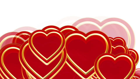 Flying love hearts, wedding background animation,... Stock Video Footage