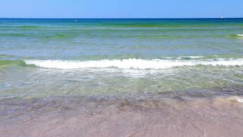 Baltic Sea - beautiful sunny day, Poland Stock Video Footage