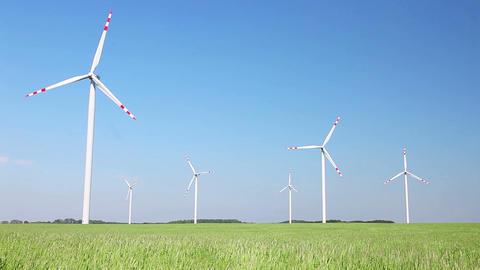 Wind turbines farm Footage