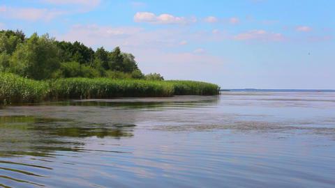 Summer view at big lake Stock Video Footage