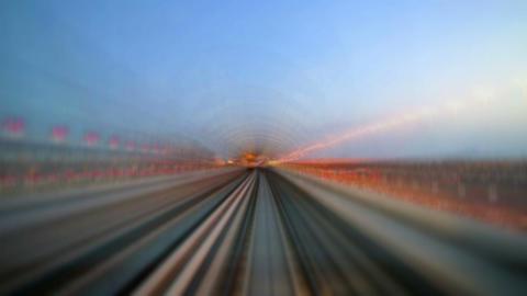 Traffic Dubai Metro. Timelapse Footage