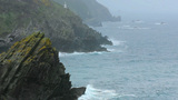 Misty Coastline stock footage