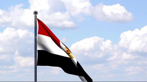 Animated Flag of Egypt / Ägypten Stock Video Footage