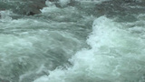 Big Turbulent creek flowing closeup Footage