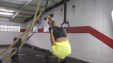 Muscle up to hold crossfit exercise Footage