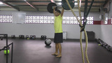 Squat Snatch Crossfit Exercise stock footage