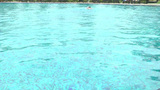 competitive swimmer practicing laps in a pool Stock Video Footage