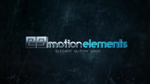 Elegant Glitchy Logo Reveal After Effects Template