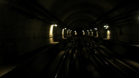 Metro tunnel time lapse Stock Video Footage