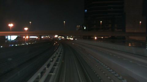 Metro at night Stock Video Footage