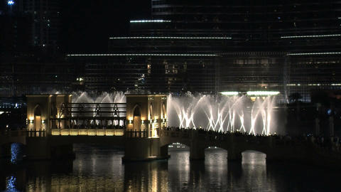 Dubai fountain Stock Video Footage