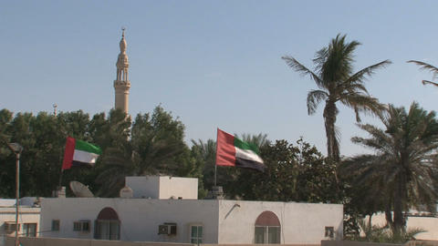 United Arab Emirates flags Stock Video Footage