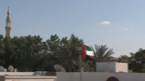 Dubai city bustour Stock Video Footage
