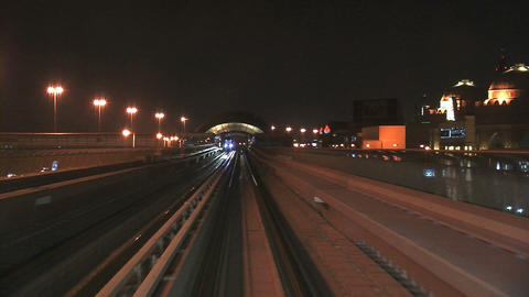 Dubai metro Stock Video Footage