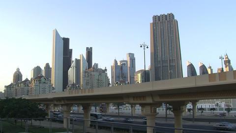 Dubai city time lapse Stock Video Footage
