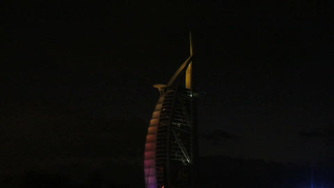 Burj al arab hotel zoom out Stock Video Footage