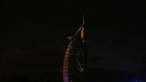 Burj al arab hotel zoom out Footage