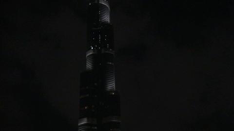 Burj Khalifa tilt shot Footage