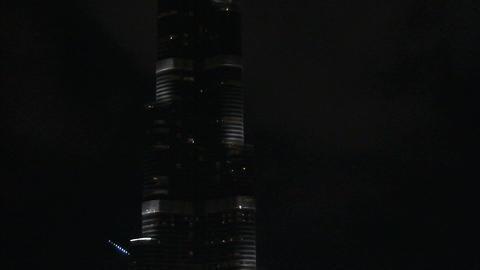 Burj Khalifa tilt shot Stock Video Footage