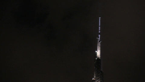 Top of the Burj khalifa Stock Video Footage