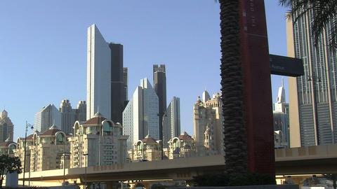 Tilt skyscrapers in Dubai Stock Video Footage