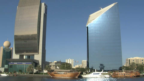 Sunshine skyscraper Stock Video Footage