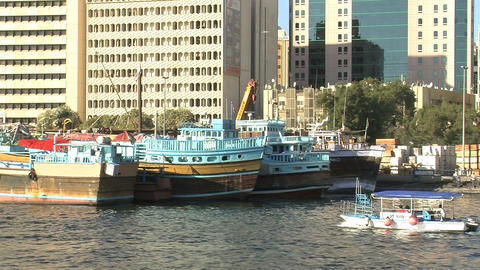 Small water taxi Stock Video Footage