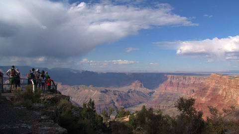 Tourism at the grand canyon Stock Video Footage