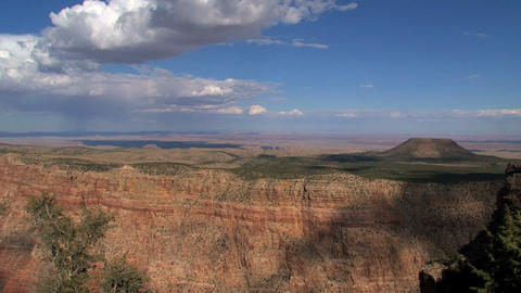 Pan from the grand canyon Stock Video Footage