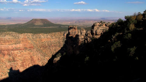 Tilt from the sky to the Grand Canyon Stock Video Footage