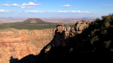 Zoom out on the end of day from the Grand canyon Stock Video Footage