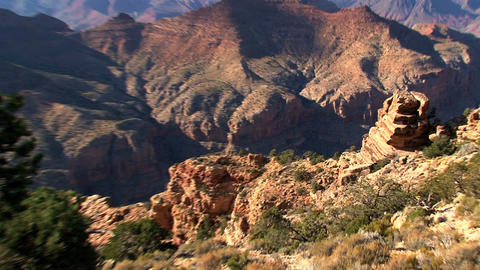 Zoom and pan from the grand canyon Footage