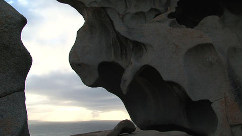 Close up from the Remarkable Rocks Footage